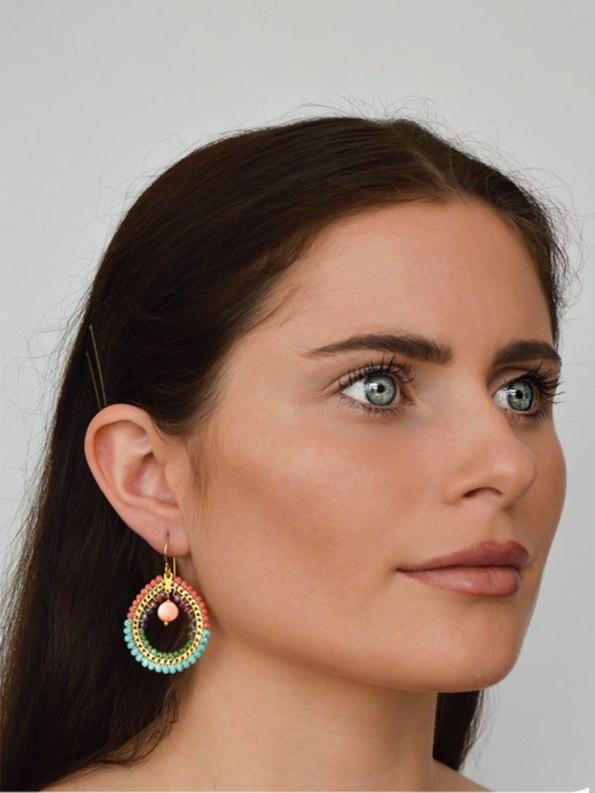 Kirsten Goss Fabrix Pink Blue Model