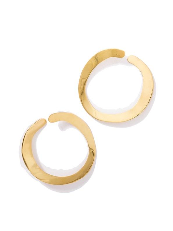 Kirsten Goss Room Service Earrings Gold