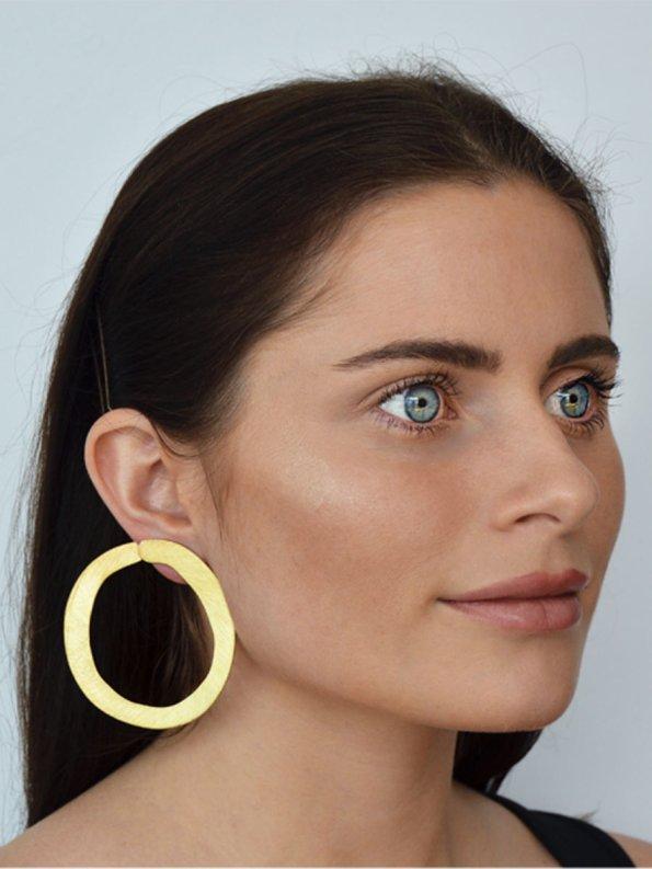 Kirsten Goss Room Service Earrings Model 2