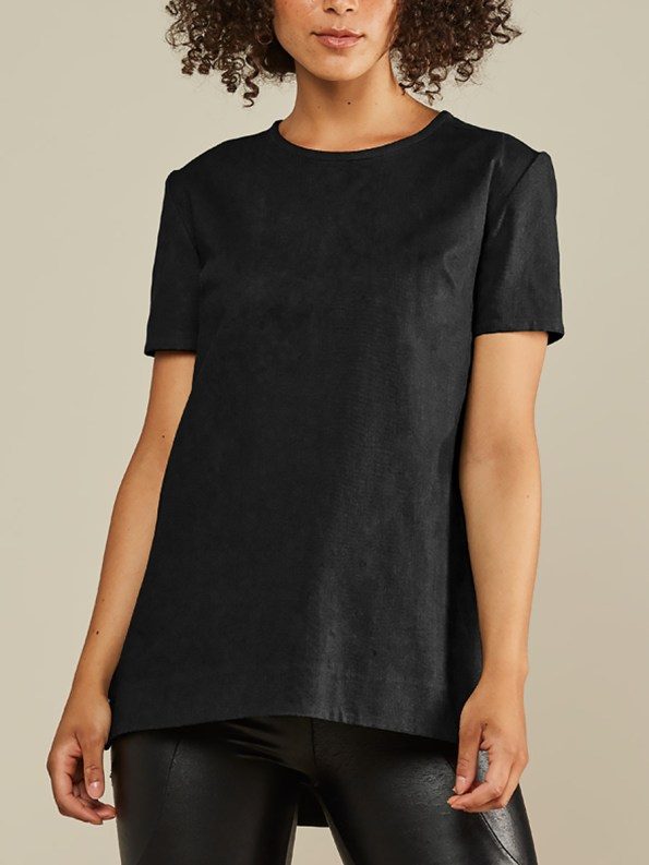 Mareth Colleen May Top Black Linen Front