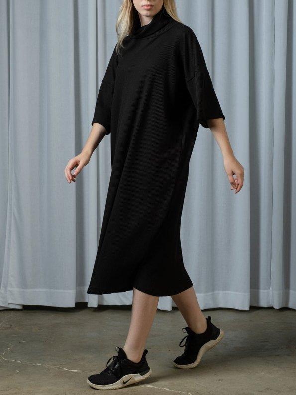 IDV Knit Polo Dress Black 2