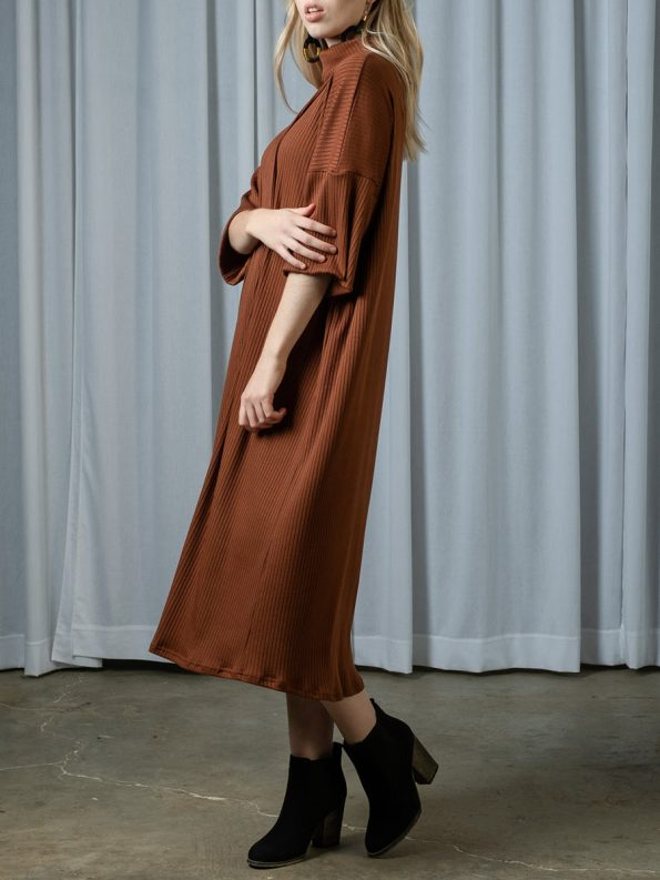 IDV Knit Polo Dress Copper 1