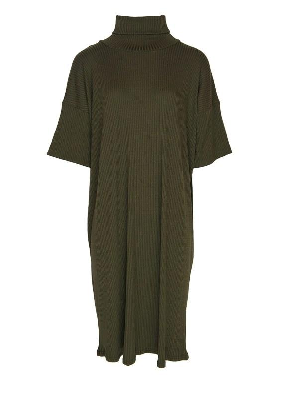 IDV Knit Polo Dress Olive (not belt)