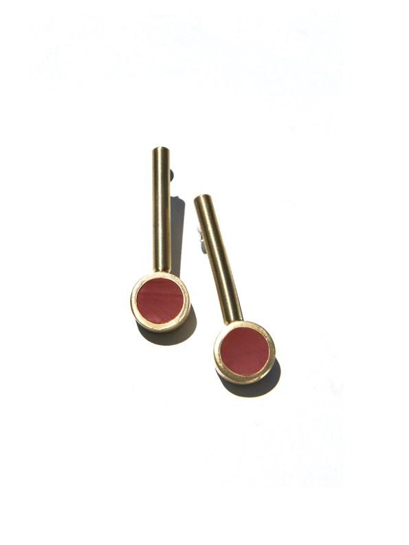 Iloni Drop Earrings Red 2