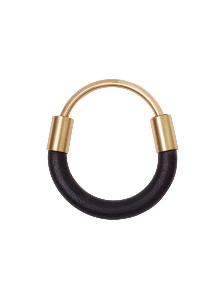 Black rubber bangle with brass South Africa