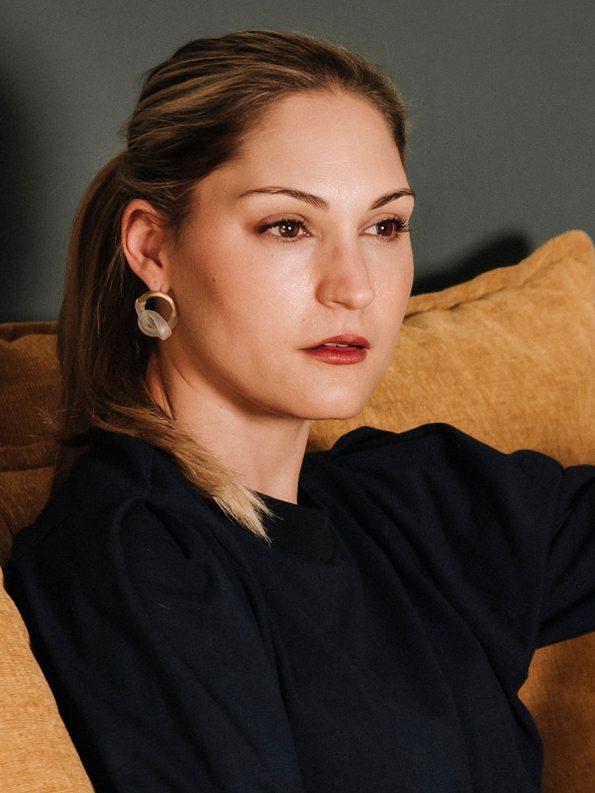 Iloni Original Knotted Earrings on Model