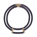 African inspired black rubber neckpiece South Africa