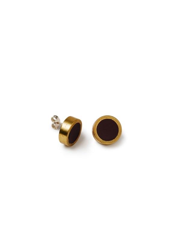 Iloni Stud Earrings Black