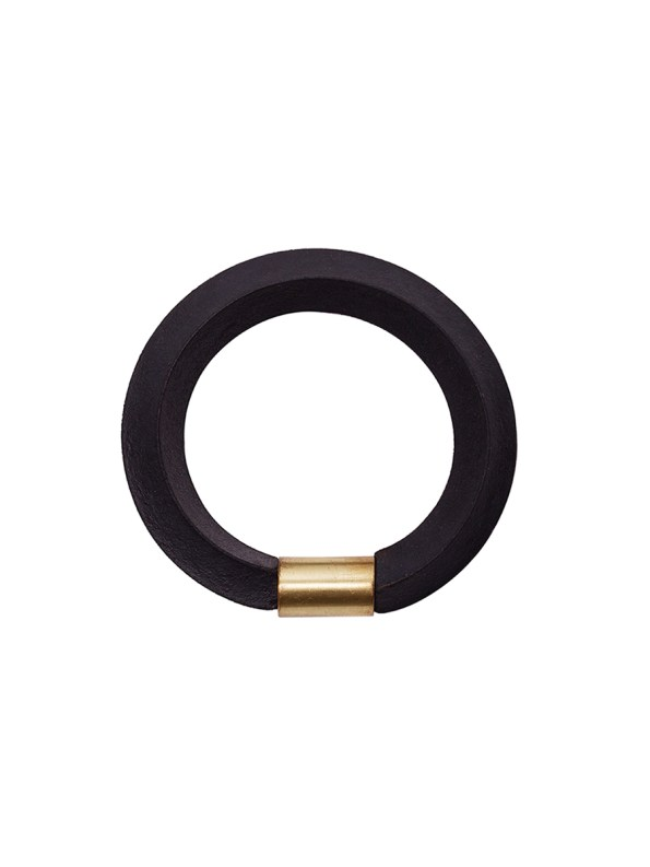 Iloni Twist Bangle Black