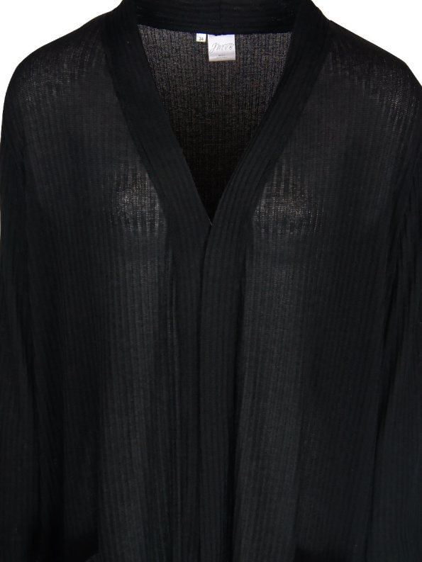 JMVB Long Sheer Cardigan Black Closeup