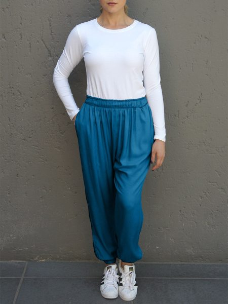 Blue womens relaxed jogger pants South Africa