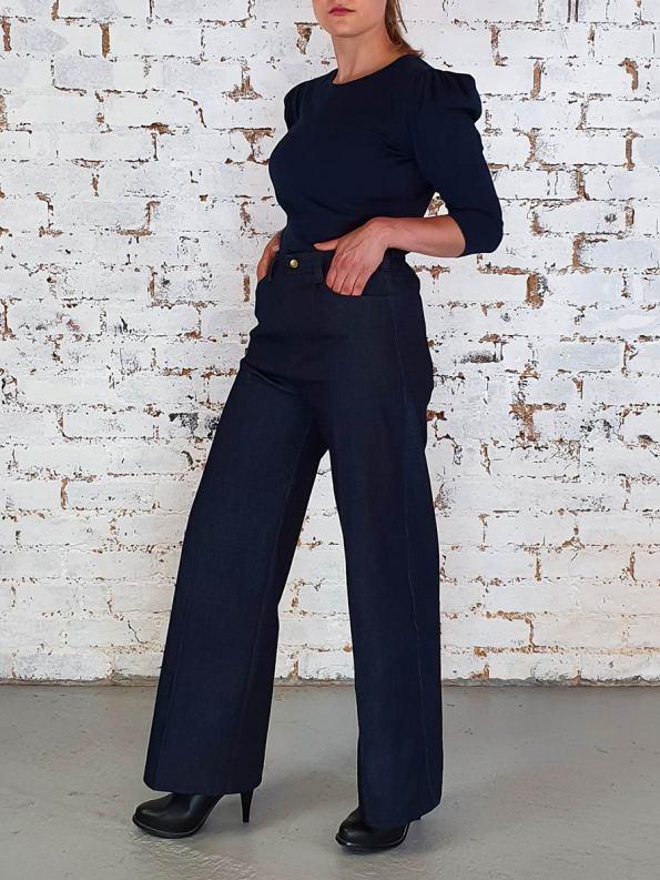 JMVB Straight Leg Jeans Indigo Side