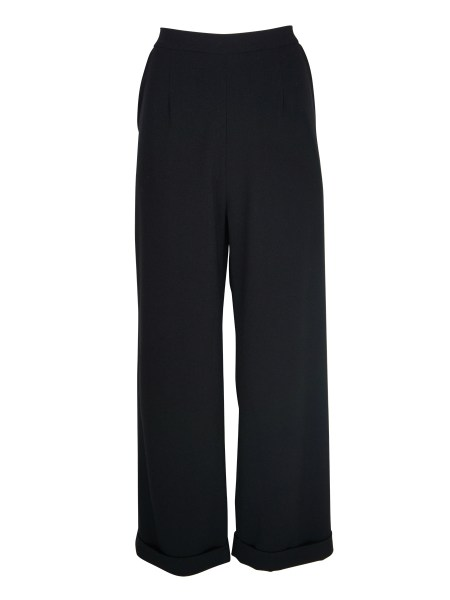 Black straight leg wool pants womens South Africa