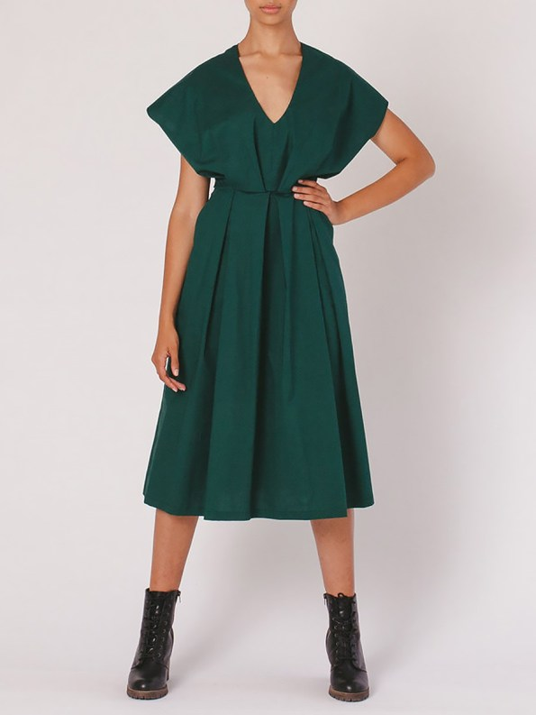 Mareth Colleen Hazel Dress Green Front