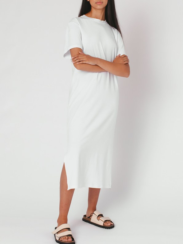 Mareth Colleen T-shirt Dress White Angle