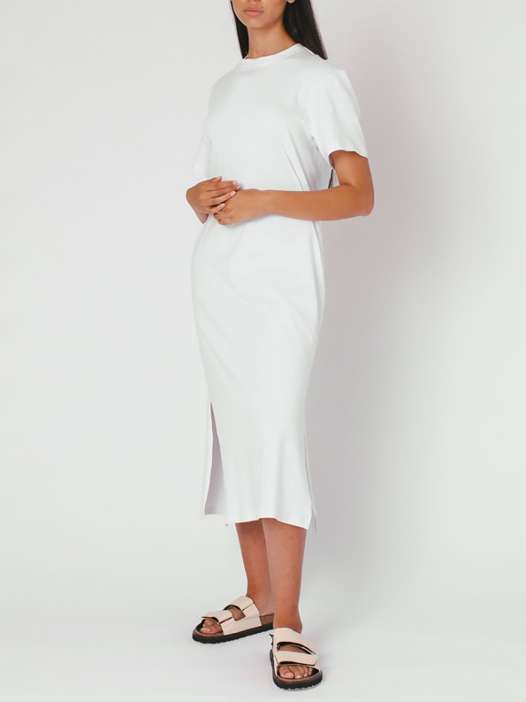 Mareth Colleen T-shirt Dress White Front