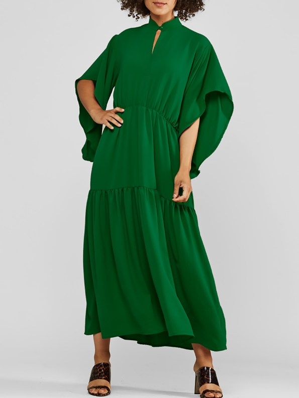 Mareth Colleen Tristan Dress Green Front
