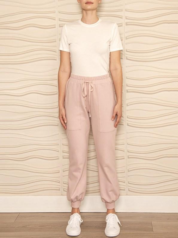 Smudj Cora Pants Blush Pink Front