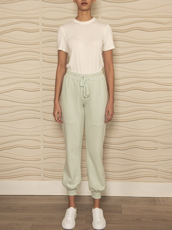 Smudj Cora Pants Mint Green Front 2
