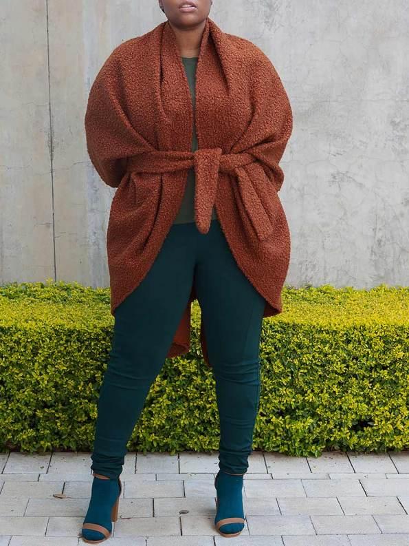 Erre Boss Cocoon Cardigan Amber 5