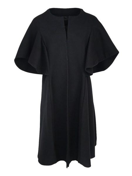 Black wool cape coat South
