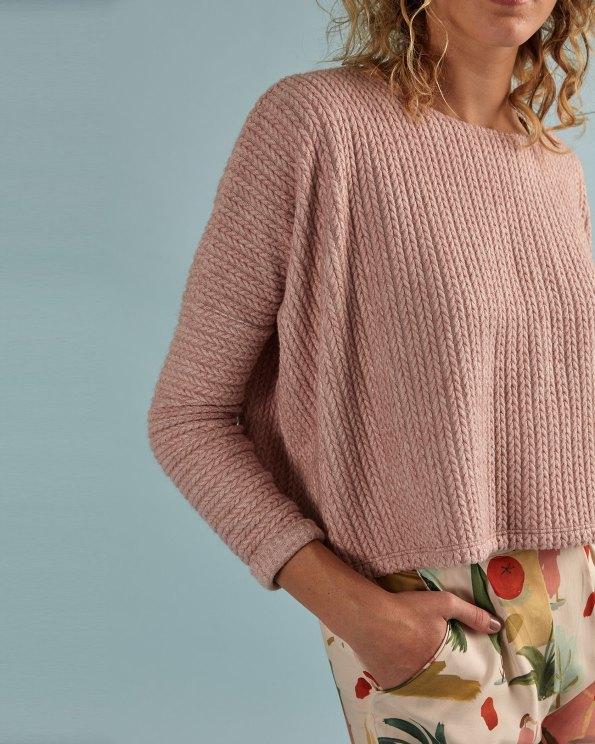 pink crop jersey