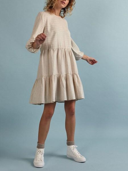 short tiered linen dress South Africa