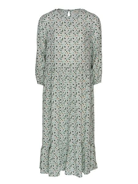 Green printed long dress Kirsten Sims South Africa