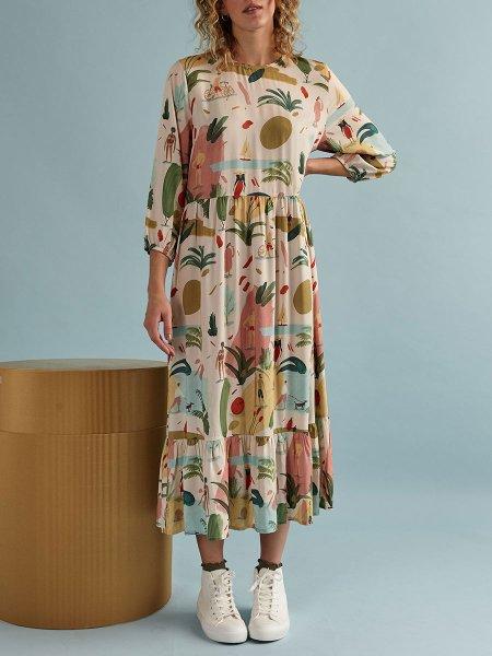 long printed dress Kirsten Sims South Africa