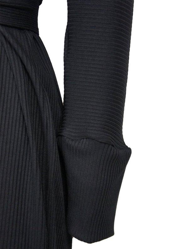 IDV Cocoon Knit Dress Black Detail