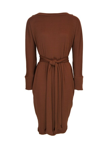 brown cocoon dress long sleeves South Africa