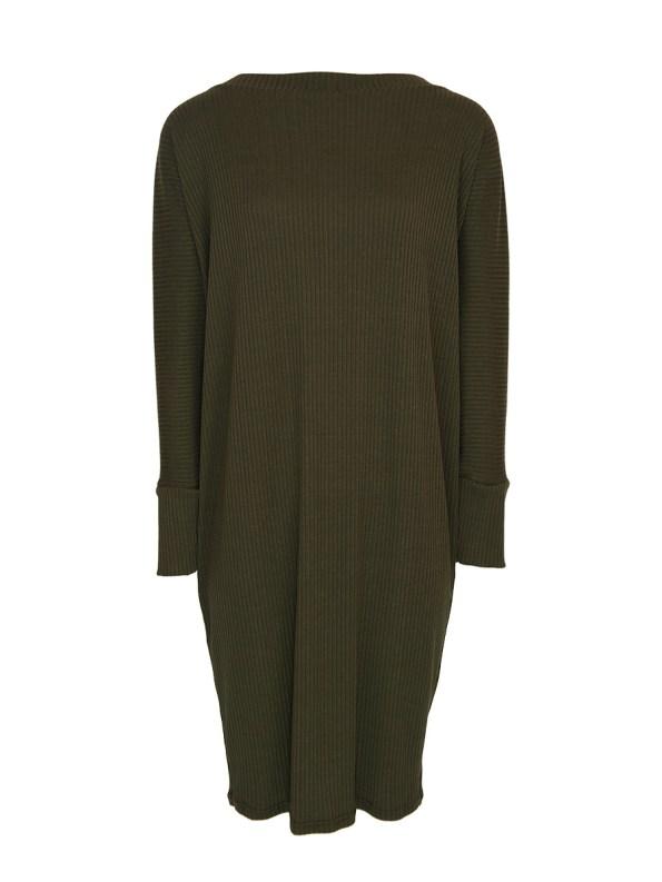 IDV Cocoon Knit Dress Olive (no belt)