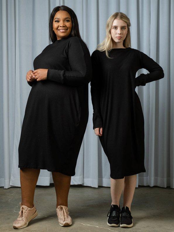 IDV Knit Cocoon Dress Black