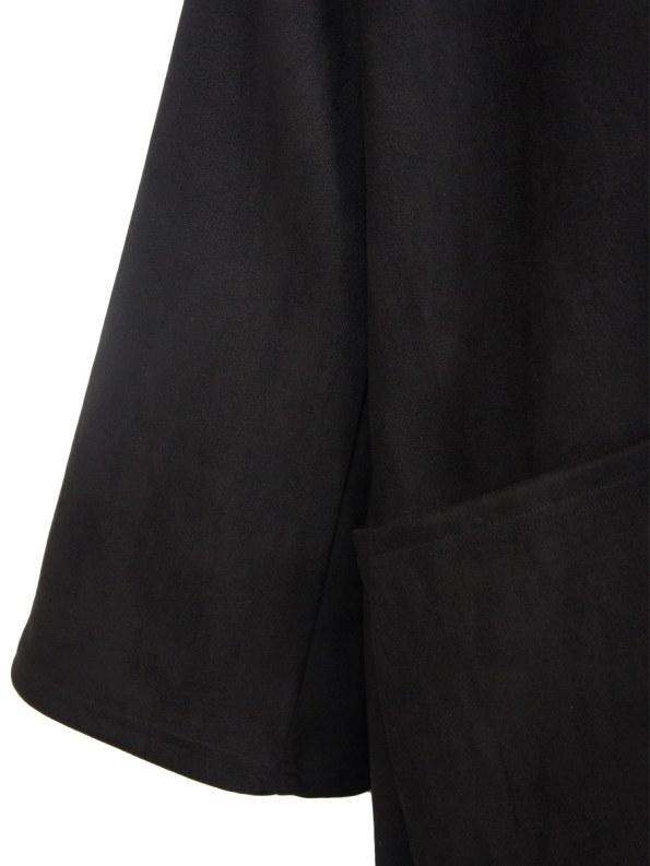 IDV Suede Bow Coat Black Detail