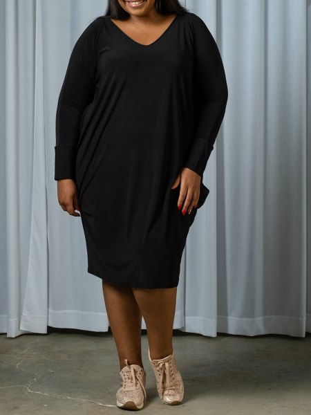 plus size black cocoon dress South Africa