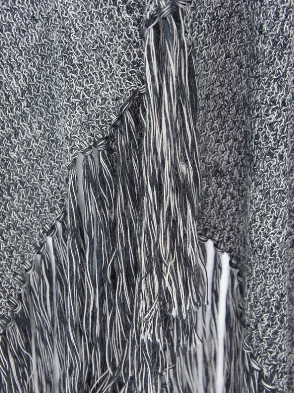 IdV Raw Collection Mohair Shawl Charcoal Detail