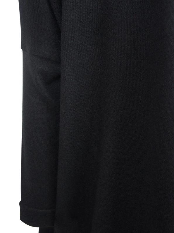 JMVB Boxy Knit Top Black Detail