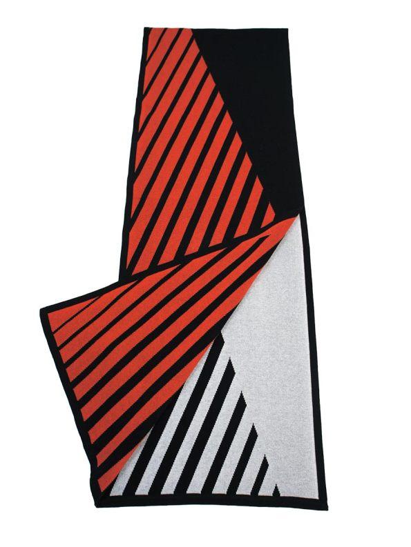 Romaria Striped Scarf Orange and Black 2