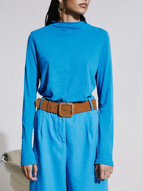 Asha Eleven Happy Turtles Top and HW Pants Cornflower Blue 1