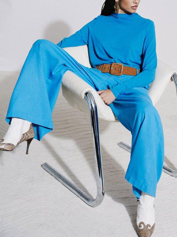 Asha Eleven Happy Turtles Top and HW Pants Cornflower Blue 3