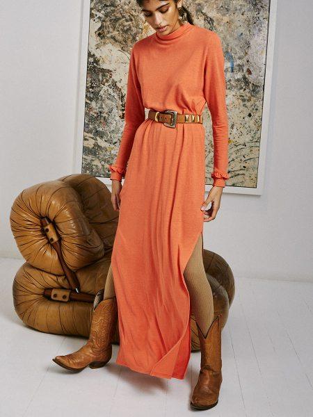 long hemp coral dress South Africa