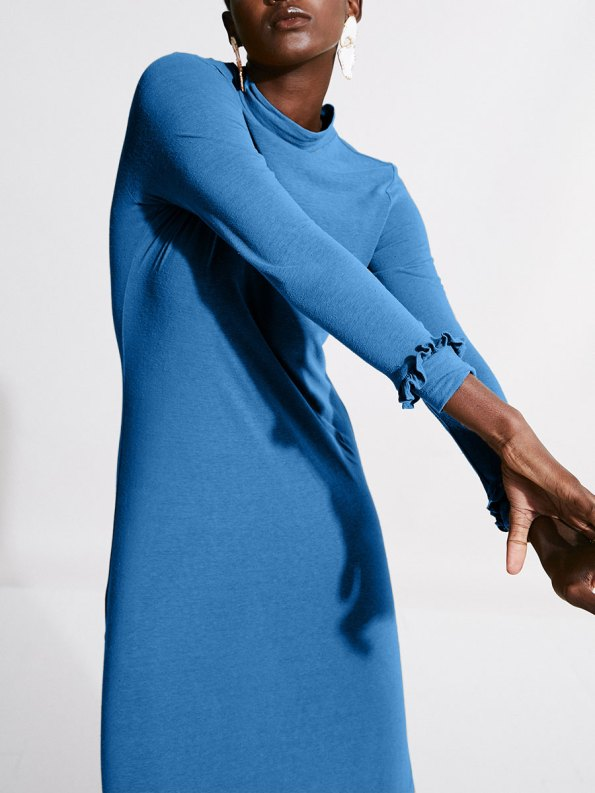 Asha Eleven Marefu Dress Cornflower Blue 2