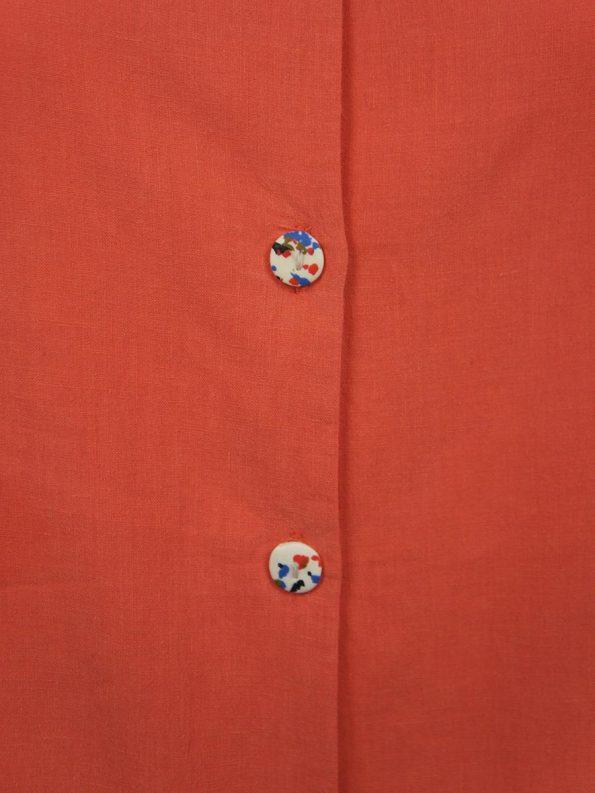 Asha Eleven Outlander Blouse Coral Buttons