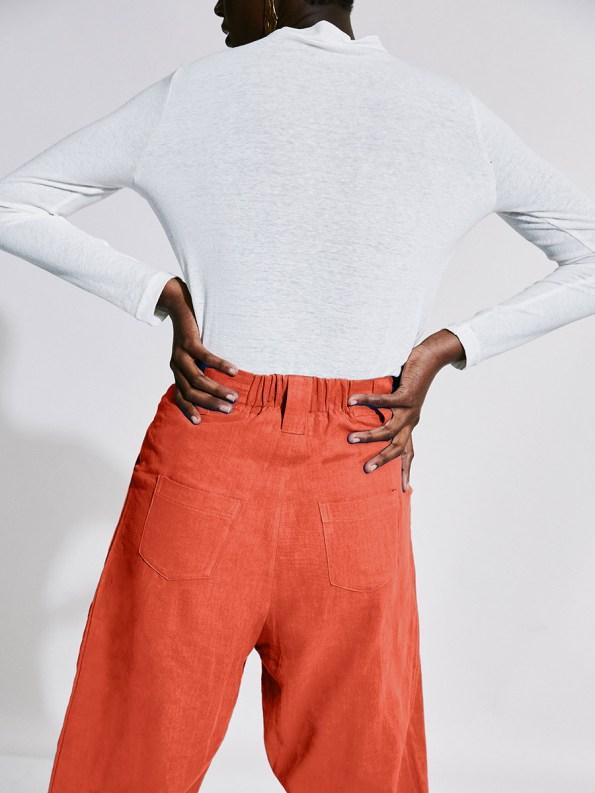 Asha Eleven Tembea Trousers Coral Back