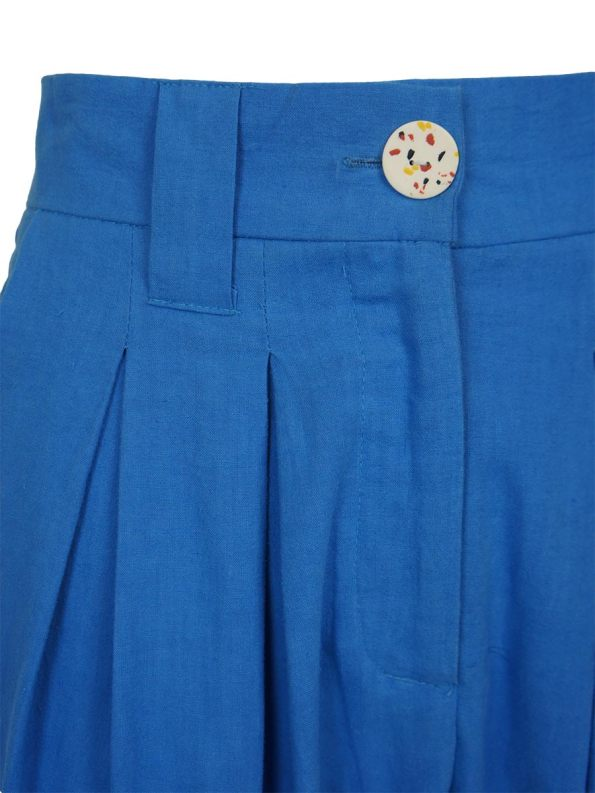 Asha Eleven Tembea Trousers Cornflower Blue Closeup