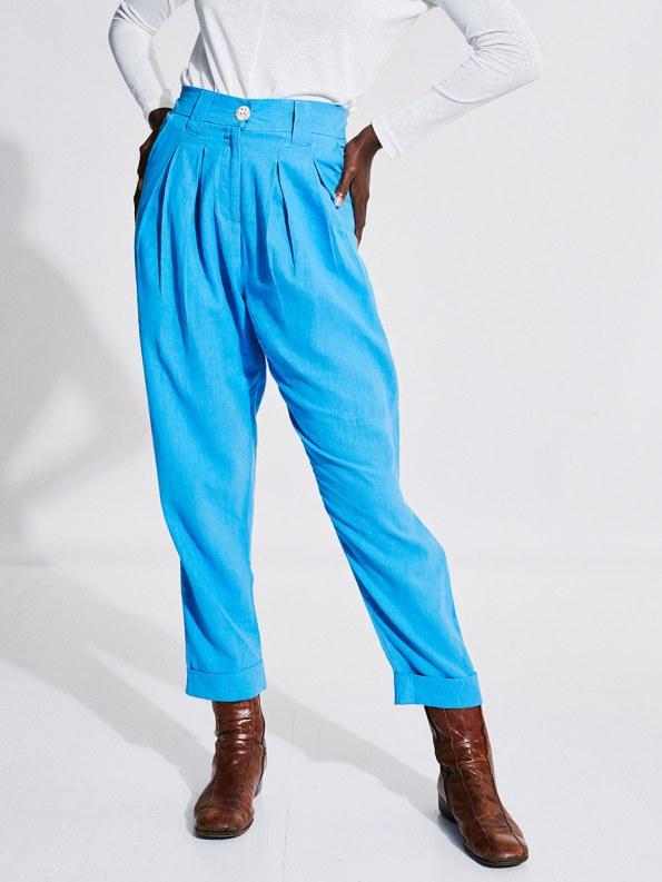 Asha Eleven Tembea Trousers Cornflower Blue Crop