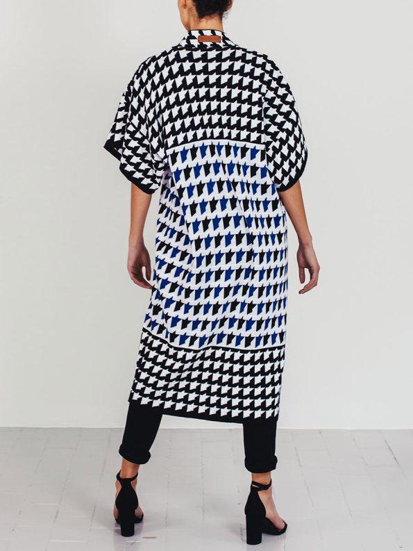 Romaria Knitted Kimono Cobalt Blue 1