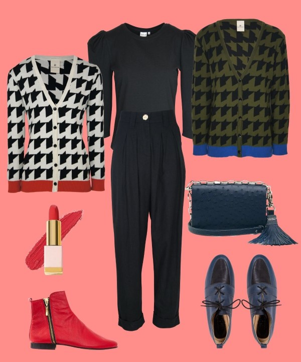 cardigan outfits geek chic