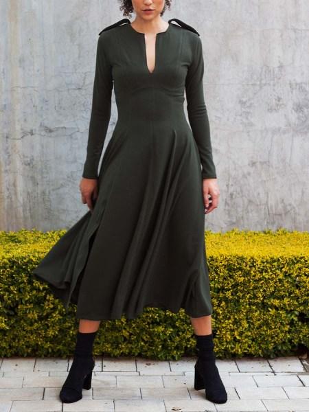 olive green midi dress South Africa