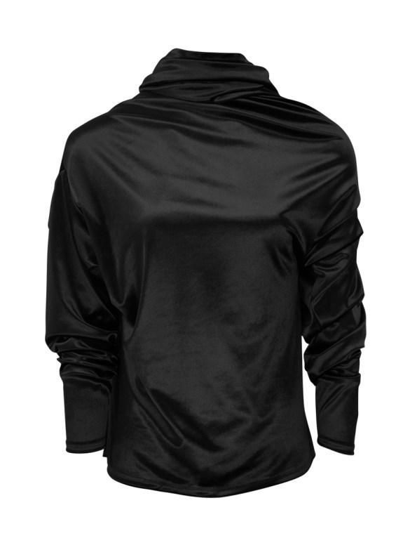 Erre Connoisseur Velvet Drape Top Black